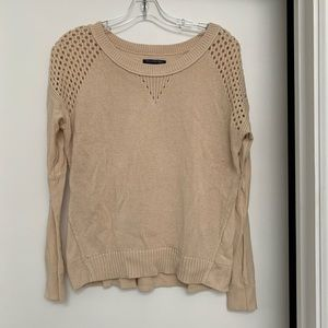 Sweater with crochet detailing